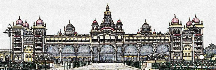 Mysore Palace Digital Image - Digital Sketches