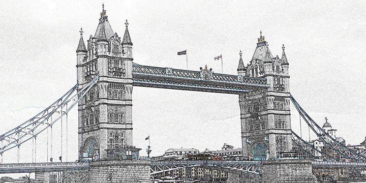 Tower Bridge Digital Image - Digital Sketches