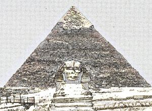 Pyramid of Egypt Digital Image