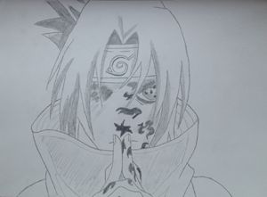 Uchiha Sasuke from the Anime Naruto
