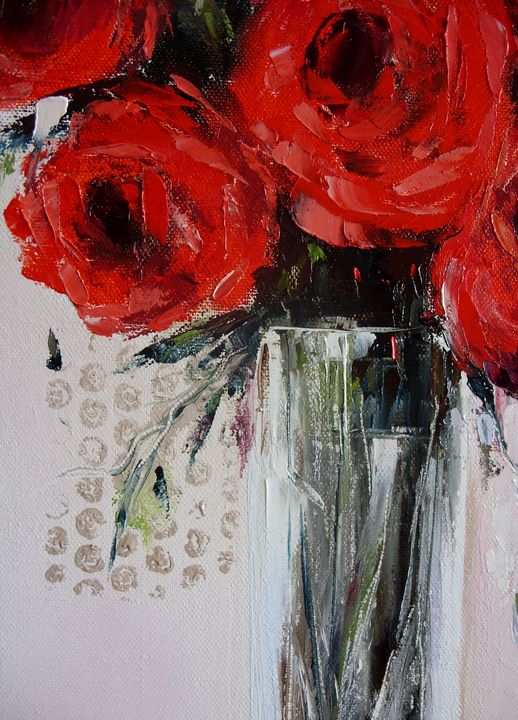 Red roses - TK art style