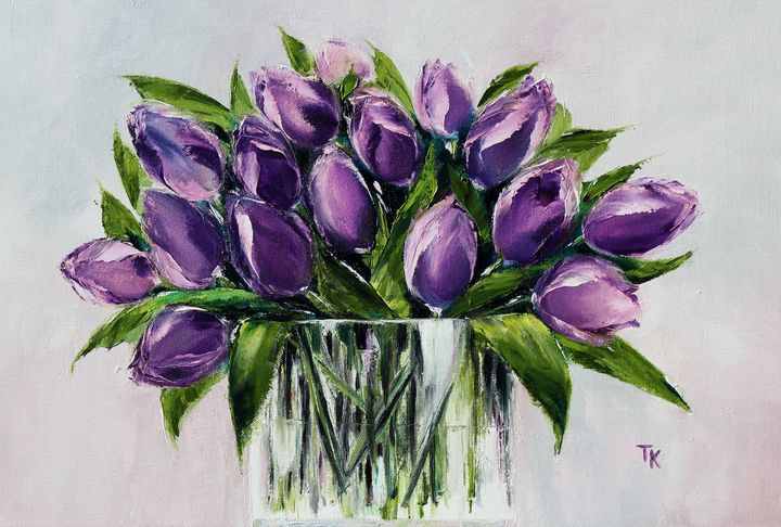 SPRING FLOWERS - TK art style