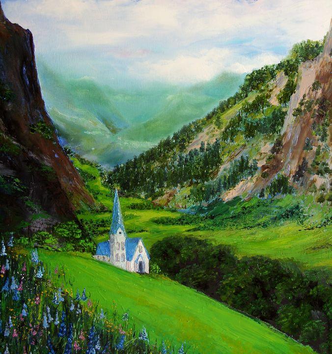 Mountainous Landscape - TK art style