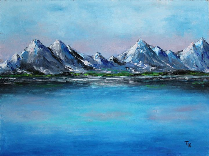 The mountains - TK art style