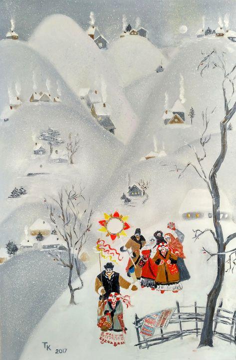 Christmas carols - TK art style