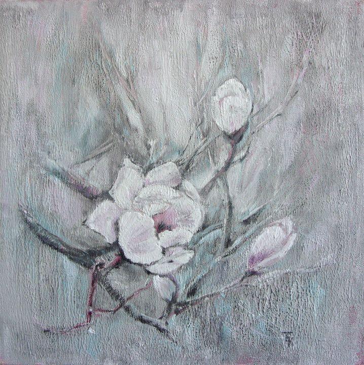 White flowers - TK art style
