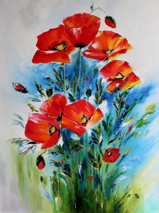 Poppies - TK art style