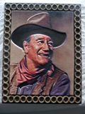 8X10 color 3D carving of John Wayne