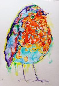Fantastic nature. Colorful bird