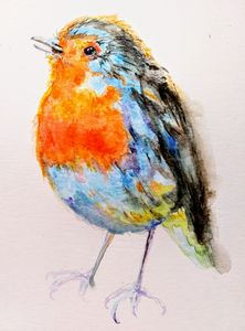 Red Robin Christmas bird