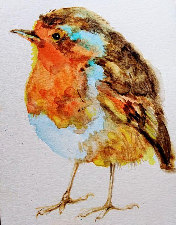Christmas robin.Bird art.Nature - Daniela