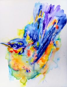 Nature inspired Colorful bird