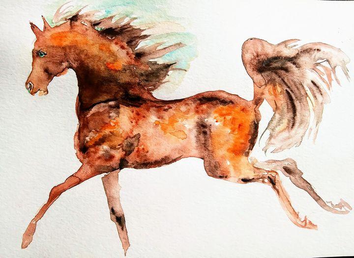 Horse Running - Daniela
