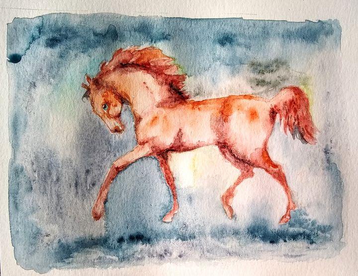 Burnt orange equine - Daniela