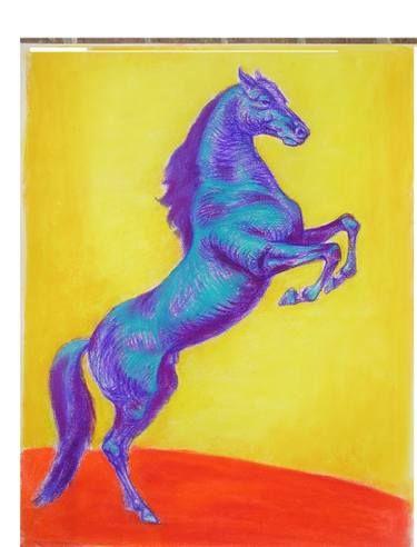 Blue stallion - Daniela