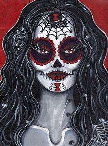 Black Widow Sugar Skull