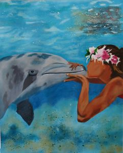 Hawaiian Kiss - Paris Art Cellar by Cathy