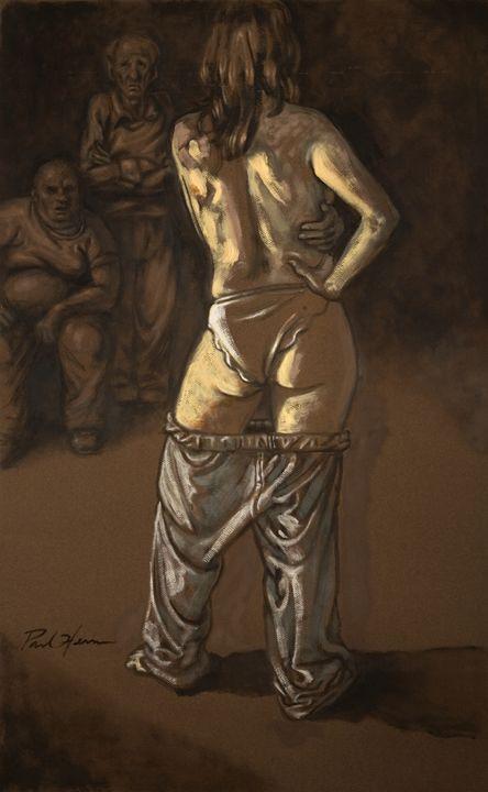 Angelique & the Men - Paintings & murals by Paul Herman