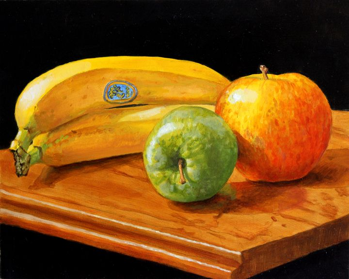 Bananas & apples - Paintings & murals by Paul Herman