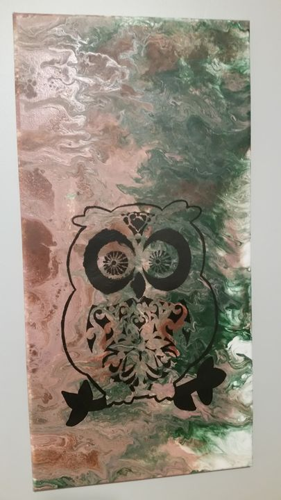 Hoot Owl!       Sold - Amazingly Graced Acrylic Paint Pours