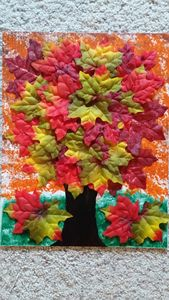 Fallen Leaves - Amazingly Graced Acrylic Paint Pours
