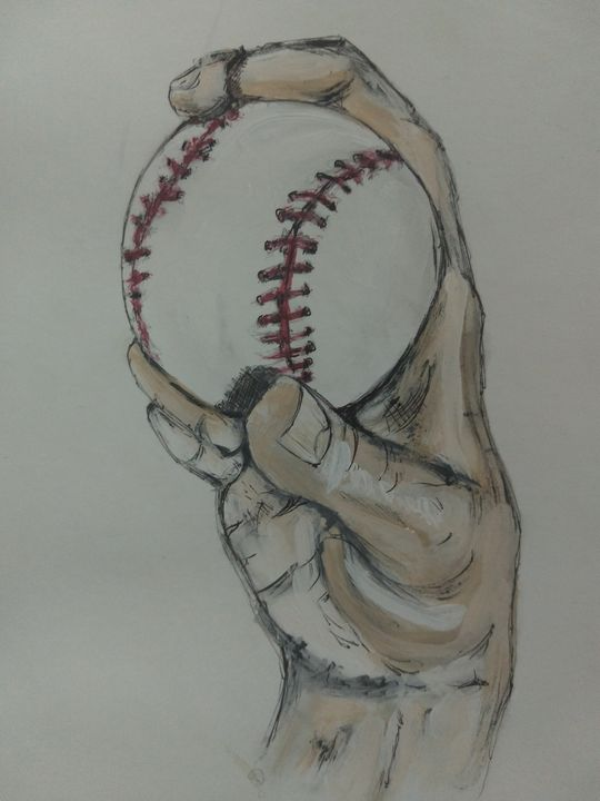 Baseball - Curve Ball - The Parker Gallery