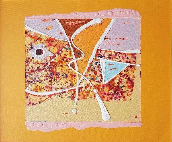 Object 4-a, acrylic on canvas, 45x55 - TRACKS ART GALLERY