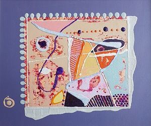 Object 1, acrylic on canvas, 46x55