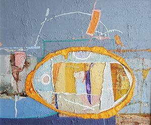 Object 5, acrylic on canvas, 46x55