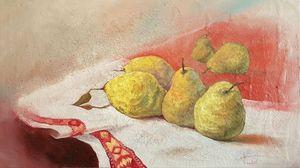 Quinces, oil on canvas, 40x70