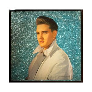 Glittered Elvis Album Cover Art