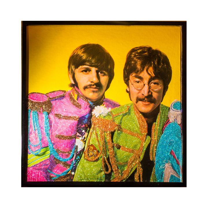 Glittered Beatles Album Cover Art - mmm designs