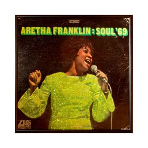 Glittered Aretha Album Cover Art