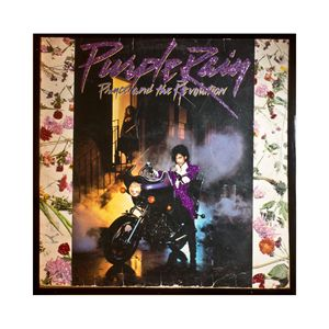 Glittered Prince Purple Rain Album A