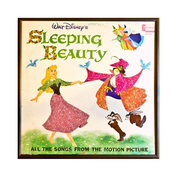 Glittered Sleeping Beauty Album Art - mmm designs