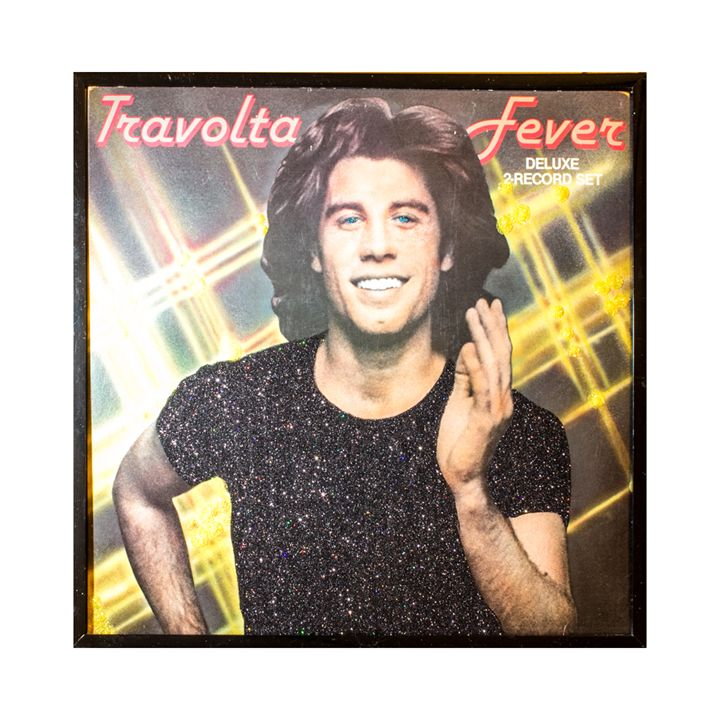 Glittered John Travolta Album Art - mmm designs