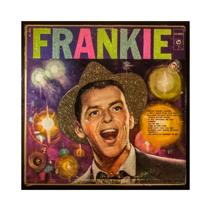Glittered Frankie Record Album Cover - mmm designs