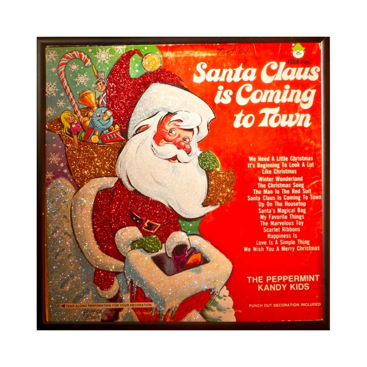Santa Claus Glittered Record Album - mmm designs
