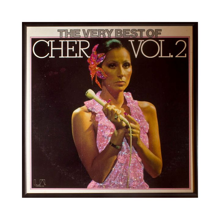 Glittered Cher Album Cover Art - mmm designs