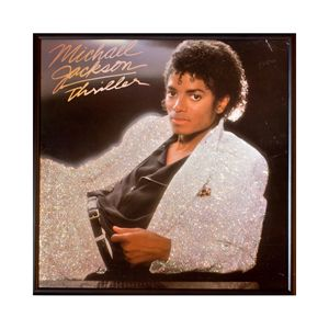 Glittered Michael Jackson Album Art