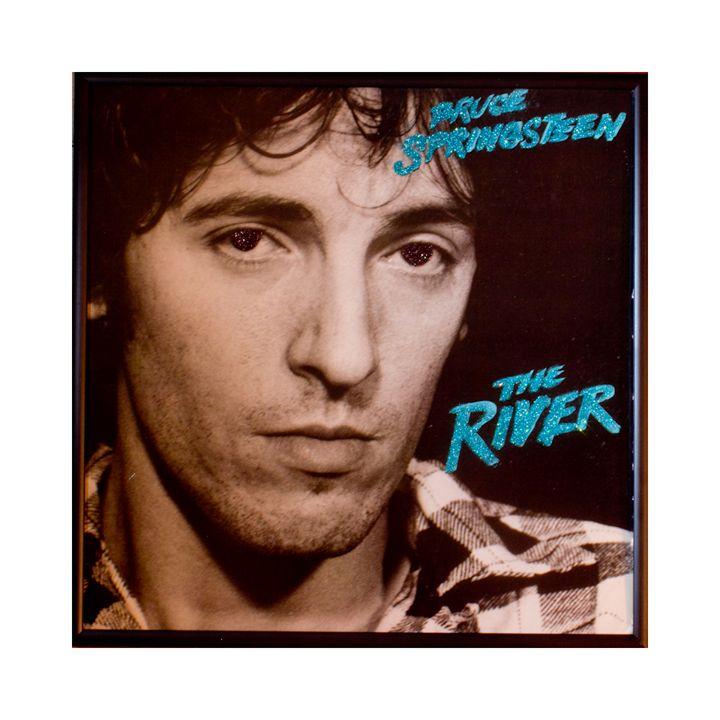 Glittered Bruce Springsteen Album Ar - mmm designs