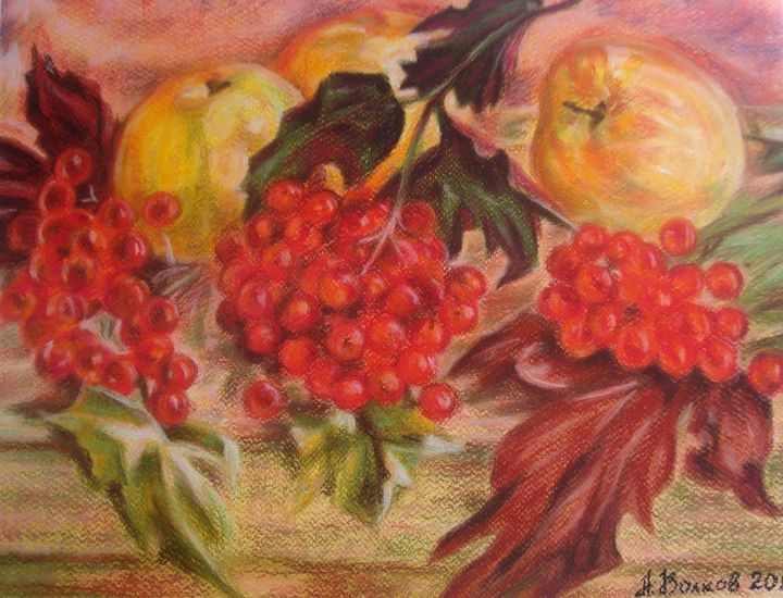 Vibrunum and apples - Volkov Art