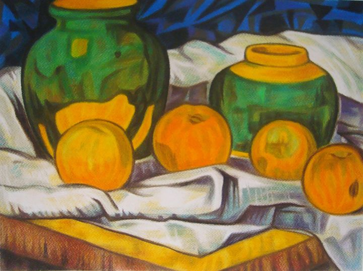 Apples and jugs - Volkov Art