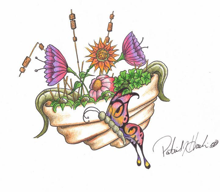 Flower Basket - PatHawkins_art