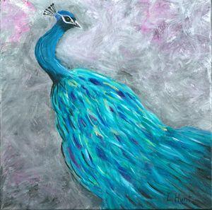 Original Ethereal Peacock Painting
