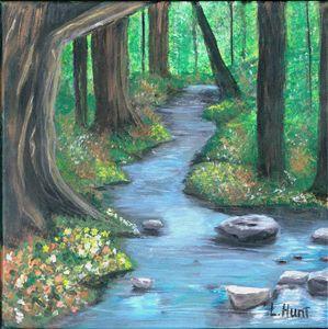 Original Stream Painting