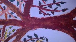 oil paint tree