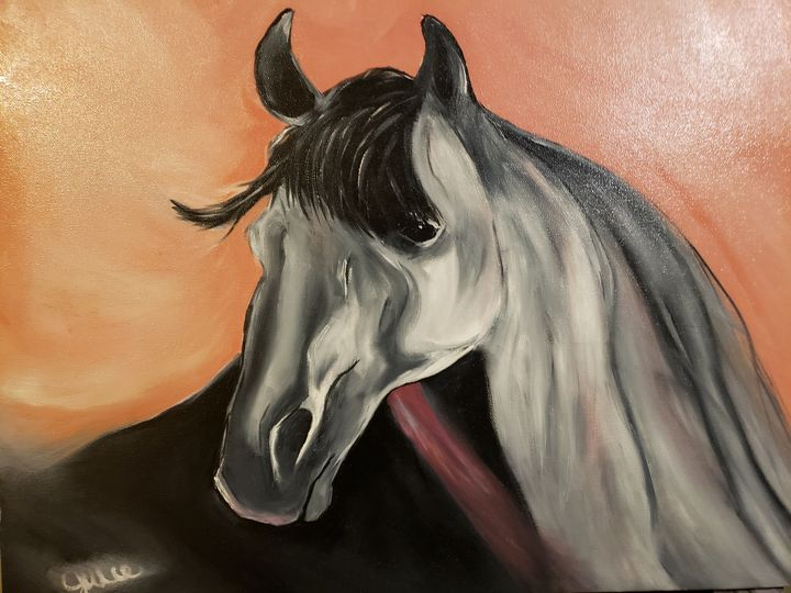 Horse love - Art by Julie Rios