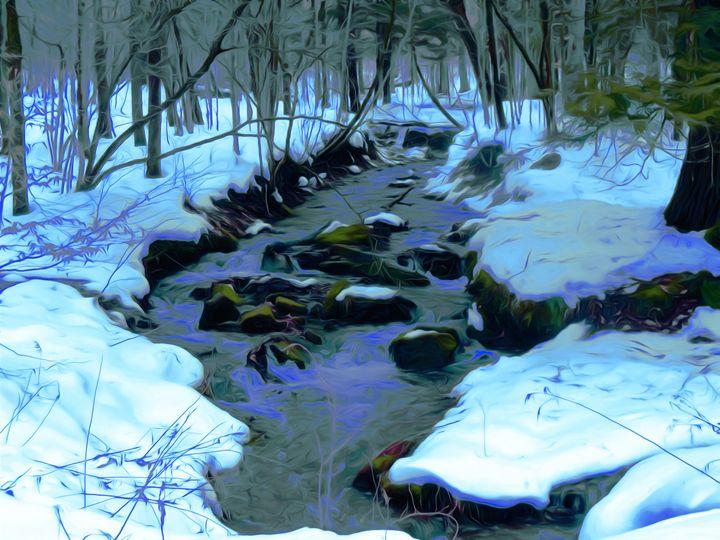 """January Blues"" - Gardens at Twilight"