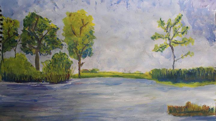 Acrylic Landscape -  Asma_iftekhar